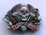 belt buckle,Bad To The Bone Skull Biker