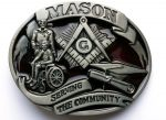 belt buckle, Mason serving the community